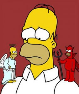 Simpsons Angel Devil